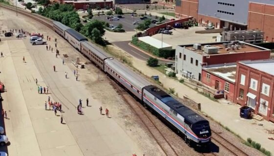 The Wichita Amtrak Train Arrival Occidental Management